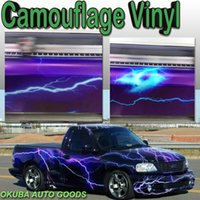 Wholesale New Car Styling Lightning Vinyl Full Body Car Sticker Camo Vinyl Graphics Camouflage Vehicle Wrap m roll