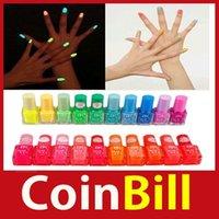 Wholesale New Design coinbill Colors Fluorescent Luminous Neon Glow In Dark Varnish Nail Art Polish Enamel hours dispatch Brand New
