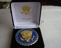 antique safe box - The president of the United States Presidential Service badge identification badges badges BADGE delivery box