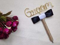 Wholesale Bride or Groom Guest Book Pen Set Rustic Wedding pen set Guest Book wrapped in Jute Twine