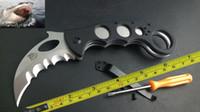 Folding Blade Plastic Steel New CNC Serrated Claw Karambit AUS-8 Blade G10 Handle Folding Pocket Knife C06