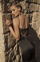 Cheap 2015 Winter Mermaid Black Wedding Dress Best Applique Lace Court Train Low Back