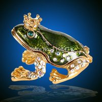 best jewellery box - 1509 new Fashion craft The Frog Prince Metal Crafts gift Best Home decor Jewellery Box Gift crafts Casket Birthday Gift