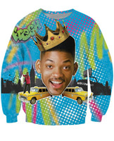 Wholesale w151231 OPCOLV new fashion women men punk d sweatshirt print The Fresh Prince of Bel Air hoodies funny harajuku graphic d sweatshirts
