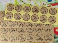 Wholesale SIZE MM Kraft sticker Kraft Thank YOU Sticker Label Kraft paper stikcer labels
