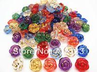 al por mayor 13mm botón vástago por mayor-100Pcs Mixta linda flor de Rose de la resina de coser caña Botones Scrapbook 13mm Knopf Bouton Decoración (W03667)