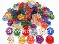 Wholesale Mixed Cute Rose Flower Resin Sewing Shank Buttons Scrapbook mm Knopf Bouton Decoration W03667