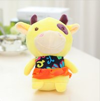 best old clothes - Hot CM Cute Cattle with Beautiful Clothe Stuffed Plush Kawaii Doll Best Gifts Special Offer SY108B