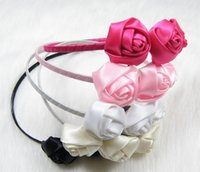band rose buds - The new children s jewelry girl a rose bud hoop three roses hair band