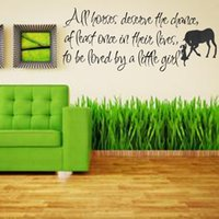 best chance - Modern Design Best Price All Horses Deserve The Chance Love Horse Girls Inspiration Window Wall Stickers Home Decal Decoration
