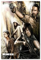 abstract print fabric - The Walking Dead Season Art Silk Fabric Poster Print x36 quot