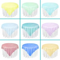Wholesale Organza Tablecloth Overlay cmx180cm quot X72 quot SquareTop Table Decorations Wedding Party Supply