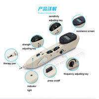Wholesale 2016 New Electric Vibrator Acupuncture Health Pen Meridian Body Massage Pain Relief Therapy Electronic Full Body Moxa Double Massager chair