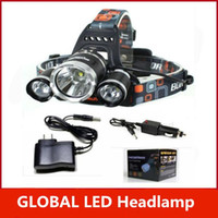 Wholesale 5000LM xCREE XML T6 LED Rechargeable Headlight Headlamp Head Torch Lamp XCharger