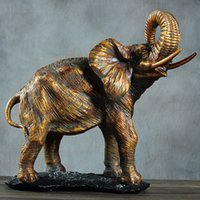 elephant figurines - figurines for home decoration resin cabochon artificial Elephant figurine animal