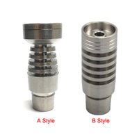 Wholesale T Domeless Grade Titanium Nail with T Titanium Nail Jonts mm and mm Glass bong Glass Smoking Water Pipes