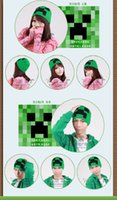 Wholesale AAAA quality New creative Minecraft Creeper winter hats winter Wool cap Minecraft Wool cap fashinable ceramic hats