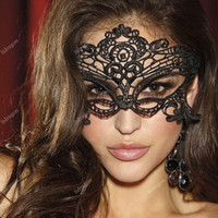 Wholesale Free DHL Lovely Lace Halloween Masquerade Venetian Party Half Face Mask Lily Woman Lady Sexy Mask For Christmas