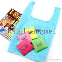 nylon foldable shopping bag - 500pc Fashion Eco Reusable Shopping Bag Foldable Waterproof Nylon Grocery Tote O J118