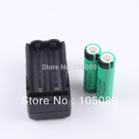 Wholesale 2PCS NCR18650A Rechargeable Li ion battery mAh Charger for panasonic
