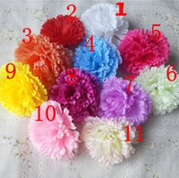 artificial carnations - 50pcs High Quality CM Silk Carnation Head Artificial Flower for Wedding Christmas Party Home DIY Decoration