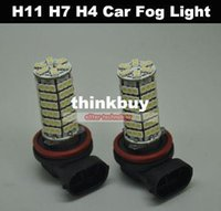 Wholesale H11 H7 H4 SMD LED Car Fog Parking Head Light V Vehicle Source tiggou2