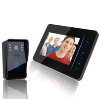 Wholesale quot TFT G Wireless Video door phone Intercom Doorbell System Kit IR Camera doorphone monitor Speakerphone intercom
