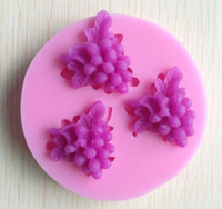 Wholesale grape silicone mold soap fondant candle molds sugar craft tools chocolate moulds silicone molds for cakes