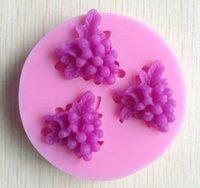 trasporto libero di sapone 1PCS uva stampo in silicone, stampi fondente candele, strumenti artigianali zucchero, stampi per cioccolato, stampi in silicone per dolci