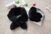 best earmuffs - H63 Best Price soft muffler for women natural rabbit fur hat colors fashion piece set of scarf cap earmuffs hand ring