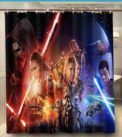 Wholesale Bath Curtains star wars episode vii the force awakens Popular x180cm Moden Classical Custom Shower Curtain