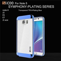 ace pc - 2016 USA slicoo drawbench transparent plating drawing tpu pc case for Samsung galaxy j1 ace j3 E5 E7 NOTE note5 A510 XX1202