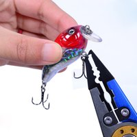 bending remove - 7 quot Aluminum Bent Nose Stainless Steel Jaws Fishing Pliers Scissors Line Cutter Remove Hook Tackle Tool Easy Fishing Tackle Tool