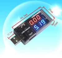venda por atacado digital ammeter and voltmeter-Universal USB Tensão Tester atual voltímetro USB Amperímetro Detector Duplo linha mostra Nova