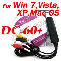 Wholesale USB2 EasyCAP DC60 v3 C Grabber VIDEO CAPTURE CARD With Driver for MAC OS No VideoGlide Key