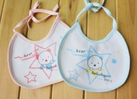 Wholesale New Arrival and maternal and child supplies suppliers Waterproof baby bib aprons Cotton five star saliva GHJD05