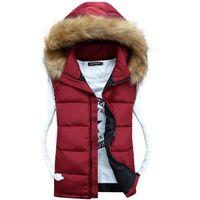Wholesale Hood Off Vest Faux Raccoon Fur Outerwear Unisex Lover Family Set Zip up Winter Vests veste cuir femme Polyester Down Padding