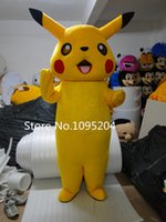 Wholesale New Lovely Pikachu mascot costume Pikachu Mascot Costume Adult Fancy Party Dress