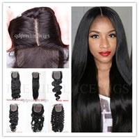 for black hair products - Premierlacewigs Straight Wave or Curly Silk Base Lace Closure Natural Color Brazilian Peruvian Virgin Human Hair Products for Black Women