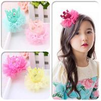 fashion children hair clip - Fashion Crown Princess hair hairpin headdress flower Children Hair Accessories For Girl boyL