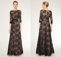 beaded sequined lace fabric - Illusion Neckline Lace Fabric Floor Length Evening Dresses Party Formal dresses