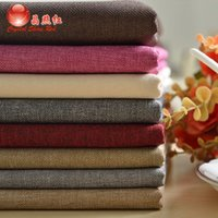 cotton - High grade cotton linen cushion cover fabric sofa sets summer solid color fabric curtains thicker encryption