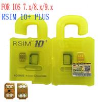 Wholesale NEWEST R SIM RSIM Rsim10 Unlock for iphone s ios9 ios9 IOS9 IOS7 X X X G G GSM CDMA iphone s s s of carrier