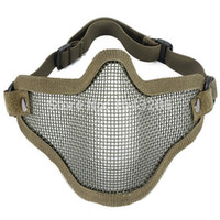 best hunting games - Best Price Half Face Metal Net Mesh Protect Mask Airsoft Perfect For Outdoor Activity Hunting War Game Amy Green order lt no tracking