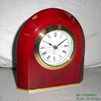 arch alarm clock - Outlets Chinese red wooden desk clock wedding bedside alarm clock prismatic arches piano wood desk clock