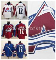 Cheap Colorado Avalanche Jersey #12 Jarome Iginla Jersey Cheap Iginla Ice Hockey Jerseys Burgundy Maroon Red Blue White High Quality