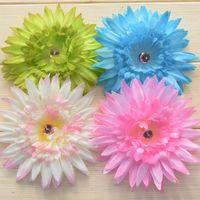Cheap 50pcs Daisy Flower Hair Clips Daisy Hair Clips Flower Clip Baby Flower Clips Baby hair accessory hair bow