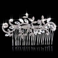 Wholesale 2015 Bridal Accessories Hair Combs New Fashion Wedding Hair Pieces Pearl Headpieces Cheap Bridal Tiaras Hair Accessories with Rhinestones
