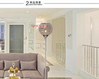 Wholesale Nice Design Modern Brief K9 Crystal Floor Lamp E27 Living Room bedroom Home Decor floor lamp Lampshade Lighting V W