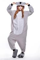 Wholesale 2016 Hot Sale Koala coral velvet pajamas mascot Anime Pajamas Hoodie animal Costume Adult Unisex Sleepwear